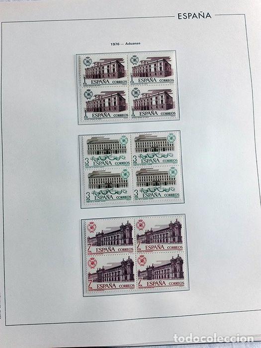 Sellos: España sellos en bloque de 4 de los años 1975 1976 1977 1978 con Hojas Edifil en negro HEBS70 - Foto 63 - 205826555