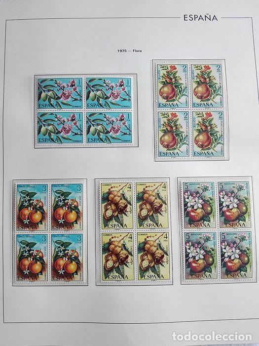 Sellos: España sellos en bloque de 4 de los años 1975 1976 1977 1978 con Hojas Edifil en negro HEBS70 - Foto 64 - 205826555