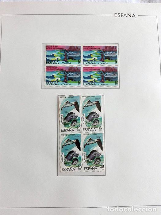 Sellos: España sellos en bloque de 4 de los años 1975 1976 1977 1978 con Hojas Edifil en negro HEBS70 - Foto 65 - 205826555