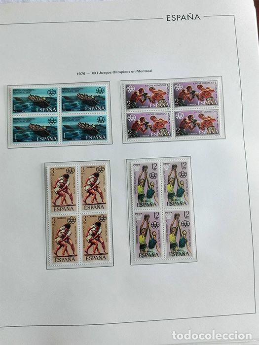 Sellos: España sellos en bloque de 4 de los años 1975 1976 1977 1978 con Hojas Edifil en negro HEBS70 - Foto 66 - 205826555