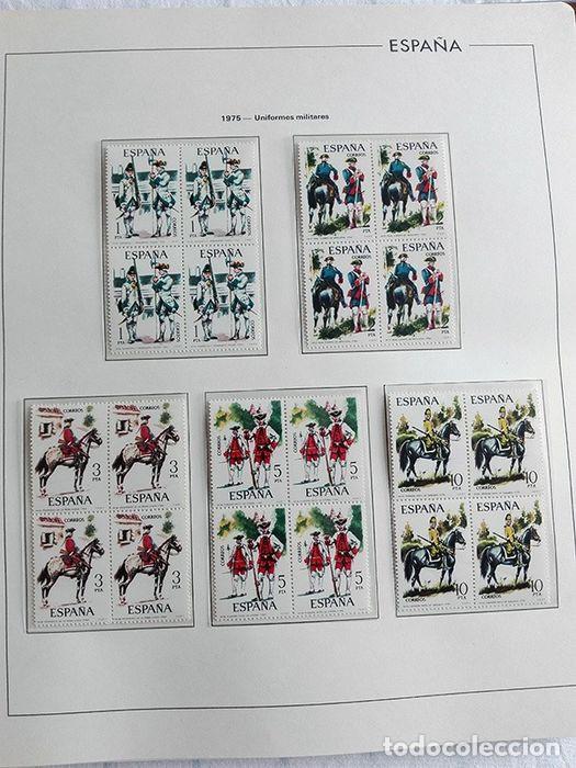 Sellos: España sellos en bloque de 4 de los años 1975 1976 1977 1978 con Hojas Edifil en negro HEBS70 - Foto 67 - 205826555