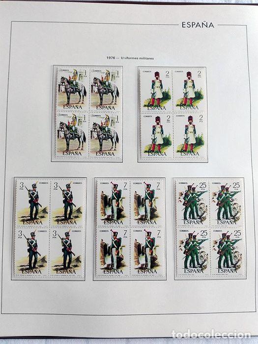Sellos: España sellos en bloque de 4 de los años 1975 1976 1977 1978 con Hojas Edifil en negro HEBS70 - Foto 68 - 205826555