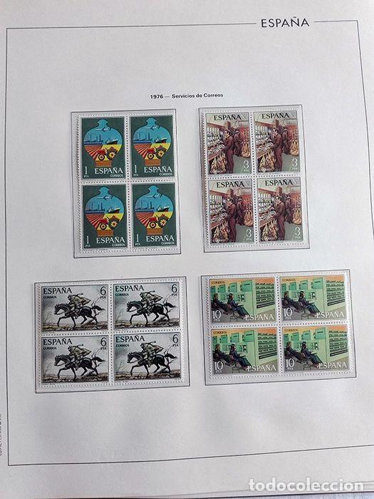 Sellos: España sellos en bloque de 4 de los años 1975 1976 1977 1978 con Hojas Edifil en negro HEBS70 - Foto 69 - 205826555