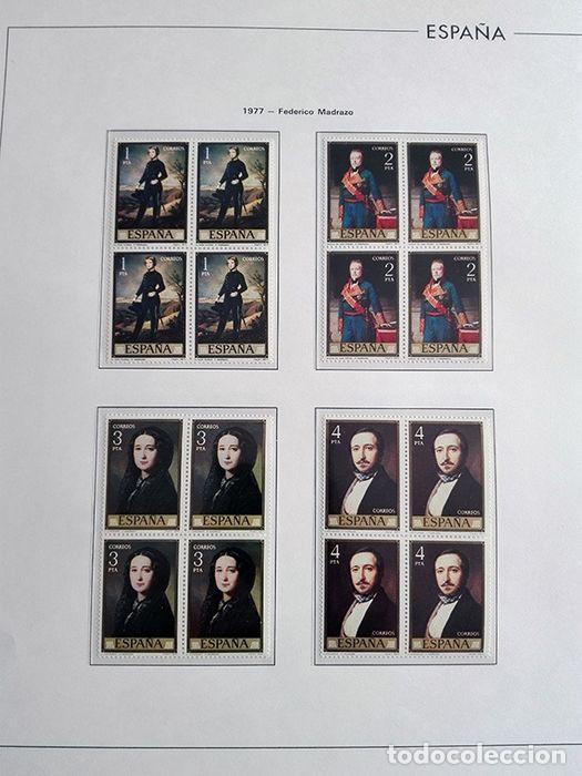 Sellos: España sellos en bloque de 4 de los años 1975 1976 1977 1978 con Hojas Edifil en negro HEBS70 - Foto 70 - 205826555