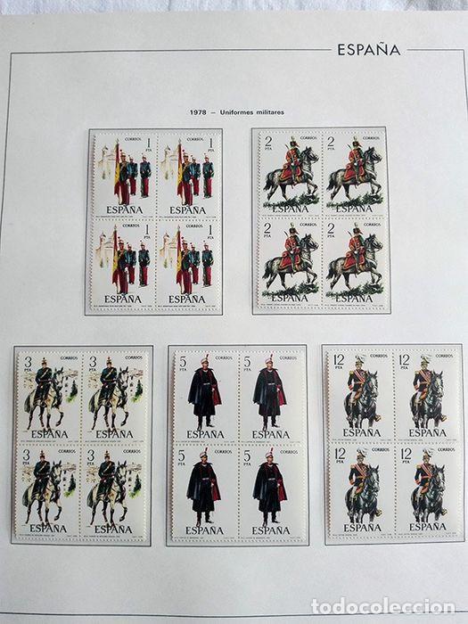 Sellos: España sellos en bloque de 4 de los años 1975 1976 1977 1978 con Hojas Edifil en negro HEBS70 - Foto 71 - 205826555