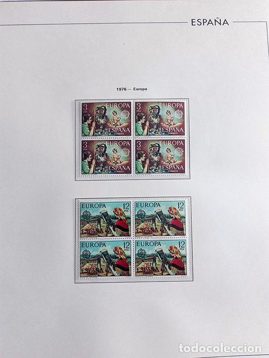 Sellos: España sellos en bloque de 4 de los años 1975 1976 1977 1978 con Hojas Edifil en negro HEBS70 - Foto 72 - 205826555