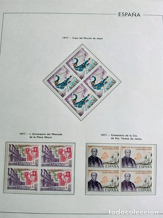 Sellos: España sellos en bloque de 4 de los años 1975 1976 1977 1978 con Hojas Edifil en negro HEBS70 - Foto 73 - 205826555