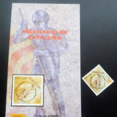 Timbres: ESPAÑA - 1988 - EDIFIL 2960 /**/ ,ILENARIO DE CATALUÑA + FOLL.. INFORMACIÓN 21/88. Lote 218989111