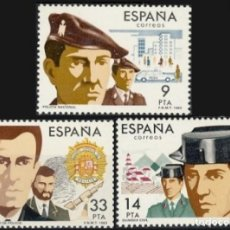 Sellos: ESPAÑA 1983.- EDIFIL 2692/94: CUERPOS DE SEGURIDAD./ NUEVOS, DEL PLIEGO.. Lote 219026160