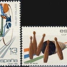 Selos: ESPAÑA 1983.- EDIFIL 2695/96: DEPORTES./ NUEVOS, DEL PLIEGO.. Lote 219026358