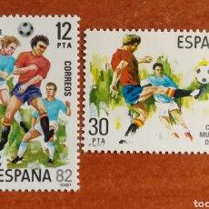 Sellos: ESPAÑA N°2613/14 MNH**COPA MUNDIAL DE FÚTBOL, ESPAÑA 82' (FOTOGRAFÍA ESTÁNDAR). Lote 232191525