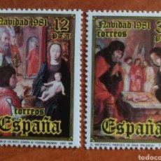 Sellos: ESPAÑA N°2633/34 MNH** NAVIDAD 1981 (FOTOGRAFÍA ESTÁNDAR). Lote 219210718