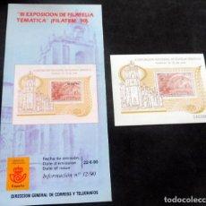 Timbres: ESPAÑA - 1990 - EDIFIL 3073 HB / /**/ FILATEM 90 + FOLLETO INFORMACIÓN 12/90. Lote 219248082