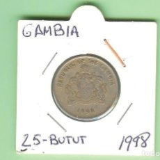Sellos: GAMBIA. 25 BUTUT 1998. CUPRONÍQUEL. KM#57. Lote 219304537