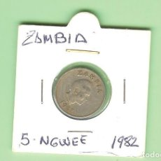 Sellos: ZAMBIA 5 NGWEE 1982. CUPRONÍQUEL. KM#11. Lote 219306130