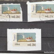 Sellos: 2003 ATM SAMMER GALLERY BODEGON DE OTOÑO. VALORES 0,27 Y 0,28. Lote 219318082