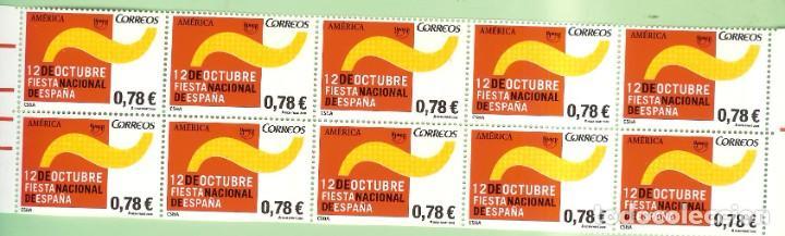 10 SELLOS 2008, SELLOS DE 0,78 EUROS. 12 OCTUBRE FIESTA NACIONAL 30% DESCUENTO (Sellos - España - Juan Carlos I - Desde 2.000 - Nuevos)