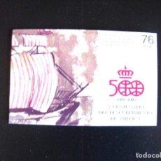 Sellos: ESPAÑA. CARNET 500 ANIVERSARIO DEL DESCUBRIMIENTO DE AMERICA. 3079C EDIFIL. 1990.. Lote 219513995