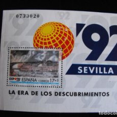 Sellos: ESPAÑA.HOJA BLOQUE SH3191 EDIFIL. EXPO´92 SEVILLA. 1992.. Lote 219574496