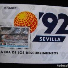 Sellos: ESPAÑA.HOJA BLOQUE SH3191 EDIFIL.EXPO´92 SEVILLA . 1992.. Lote 219575003