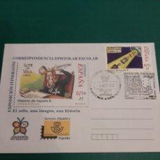 Sellos: MATASELLO EXPOSICIONES EPISTOLAR LUGO SALAMANCA 2002 CORREOS JUVENTUD. Lote 219599540