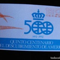 Sellos: ESPAÑA.CARNET. V CENTENARIO DEL DESCUBRIMIENTO DE AMERICA. 1986. Nº 2860C. EDIFIL.. Lote 219625091
