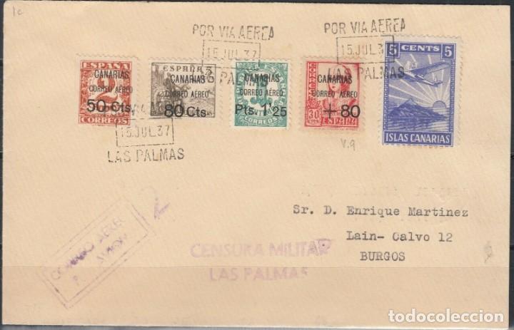 SOBRE DEL AÑO 1937 LAS PALMAS (Sellos - España - Juan Carlos I - Desde 1.975 a 1.985 - Nuevos)