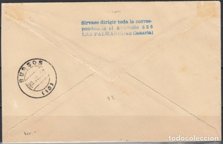 Sellos: SOBRE DEL AÑO 1937 LAS PALMAS - Foto 3 - 219751950