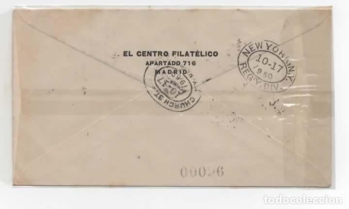 Sellos: SOBRE DEL AÑO 1950 CENTENARIO DEL SELLO ESPAÑOL - Foto 2 - 219753921