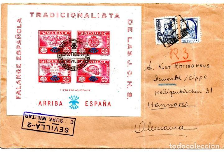 SOBRE DEL AÑO 1937 SEVILLA (Sellos - España - Juan Carlos I - Desde 1.975 a 1.985 - Nuevos)