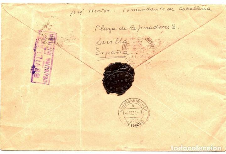 Sellos: SOBRE DEL AÑO 1937 SEVILLA - Foto 2 - 219754118