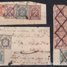 Sellos: ESPAÑA ANTILLAS 1856 FRAGMENTO DE SOBRES. Lote 219755023