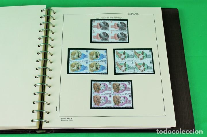 Sellos: Colección de España,bloques de 4,en 5 álbumes Creafil,filoestuches negros sobre hojas Filabo,1980-19 - Foto 3 - 219771230