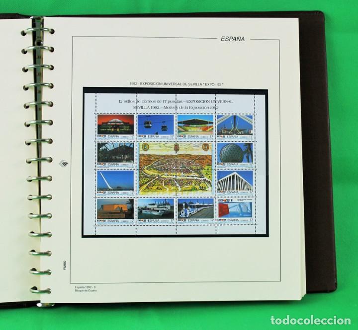 Sellos: Colección de España,bloques de 4,en 5 álbumes Creafil,filoestuches negros sobre hojas Filabo,1980-19 - Foto 7 - 219771230