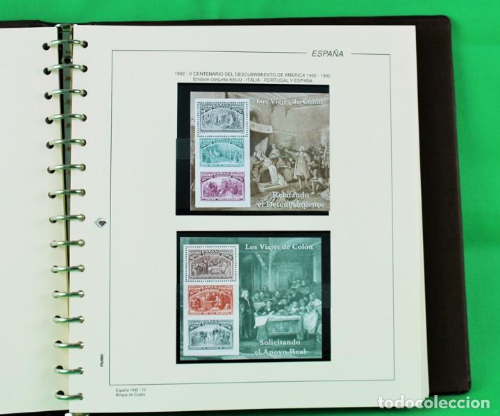 Sellos: Colección de España,bloques de 4,en 5 álbumes Creafil,filoestuches negros sobre hojas Filabo,1980-19 - Foto 8 - 219771230