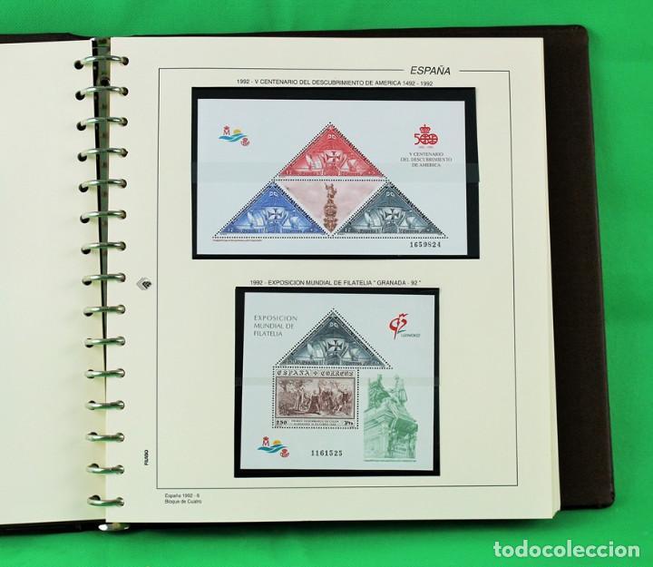 Sellos: Colección de España,bloques de 4,en 5 álbumes Creafil,filoestuches negros sobre hojas Filabo,1980-19 - Foto 9 - 219771230