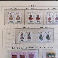 Sellos: ESPAÑA SELLOS TRAJES COMPLETOS 53 SELLOS 2 JUEGOS EN PAREJA. Lote 219852215