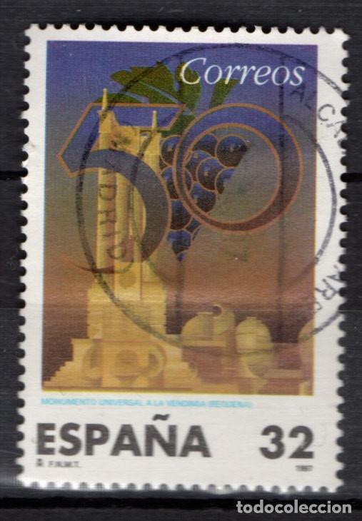 ESPAÑA 3497 - AÑO 1997 - MONUMENTO A LA VENDIMIA EN REQUENA (Sellos - España - Juan Carlos I - Desde 1.986 a 1.999 - Usados)