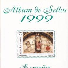 Sellos: SELLOS ESPAÑA OFERTA AÑO 1999 MNH NUEVOS MONTADO EN HOJAS FILABO FILOESTUCHES NEGROS. Lote 220408411