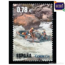 Francobolli: ESPAÑA 2006. EDIFIL SH 4224E, 4224 E. DEPORTES. RAFTING. USADO. Lote 217489255