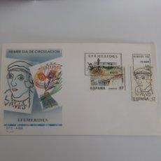Sellos: 1992 ESPAÑA MATASELLO SOBRE A 828 EDIFIL 3224/325 JUAN DE VIVES CENTENARIO. Lote 220737982