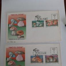 Sellos: MICOLOGÍA SETAS FLORA ESPAÑA EDIFIL 3279/3282 SERIE COMPLETA USADA FILATELIA COLISEVM. Lote 220738766