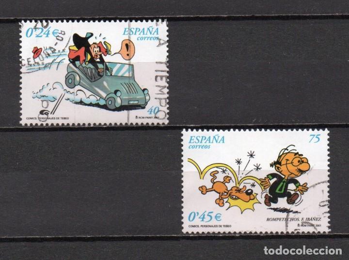 SERIE COMPLETA USADA DE ESPAÑA -COMICS-, AÑO 2001, EN BUEN ESTADO (Sellos - España - Juan Carlos I - Desde 2.000 - Usados)