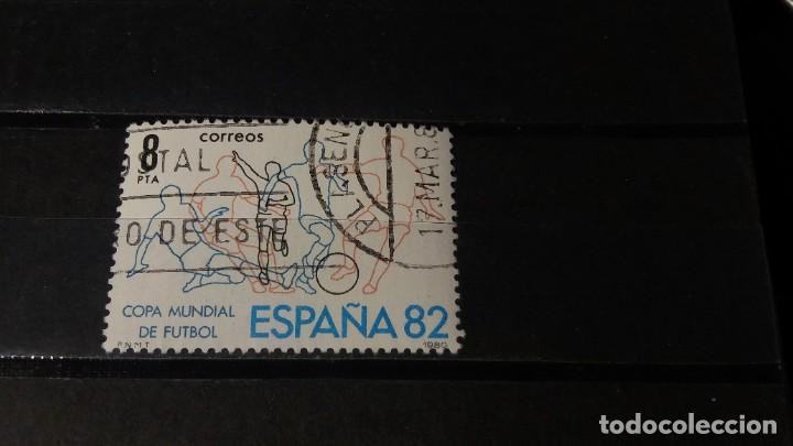 SELLO USADO. MUNDIAL DE FUTBOL ESPAÑA´82. 23 DE MAYO DE 1980. EDIFIL 2570. (Sellos - España - Juan Carlos I - Desde 1.975 a 1.985 - Usados)