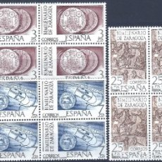 Sellos: EDIFIL 2319-2321 BIMILENARIO DE ZARAGOZA 1976 (SERIE COMPLETA EN BLOQUES DE 4)). MNH **. Lote 220970672