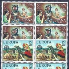 Sellos: EDIFIL 2316-2317 EUROPA CEPT 1976 (SERIE COMPLETA EN BLOQUES DE 4). MNH **. Lote 220996401