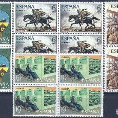 Sellos: EDIFIL 2329-2332 SERVICIOS DE CORREOS 1976 (SERIE COMPLETA EN BLOQURS DE 4). MNH **. Lote 220999781