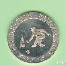 Sellos: PLATA-ESPAÑA. 2000 PESETAS 1991. JUEGO DE BOLOS. 27 GRAMOS DE LEY 0,925. Lote 221078241