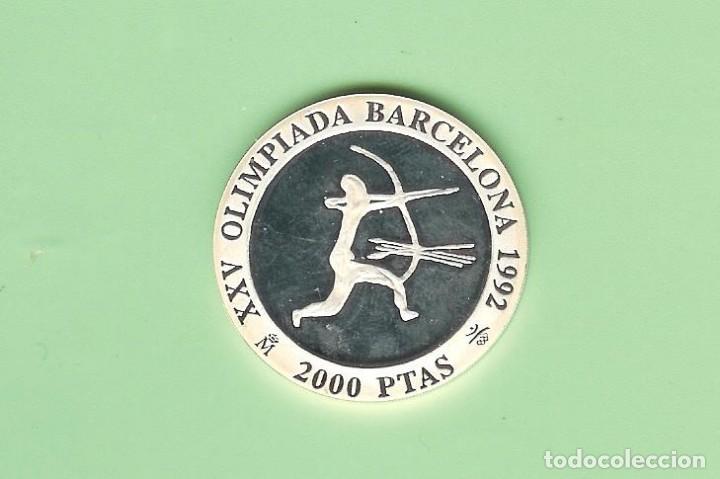 PLATA-ESPAÑA. 2000 PESETAS 1990. ARQUERO 27 GRAMOS DE LEY 0,925 (Sellos - España - Juan Carlos I - Desde 2.000 - Nuevos)