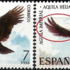 Sellos: EDIFIL 2173 FAUNA IBÉRICA - ÁGUILA - VARIEDAD -. Lote 221287347